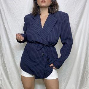 Vintage Navy Blue Blazer